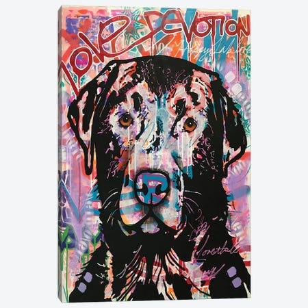 Love Devotion Lab Canvas Print #DRO957} by Dean Russo Canvas Artwork