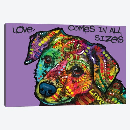 Love In All Sizes Canvas Print #DRO958} by Dean Russo Canvas Art Print