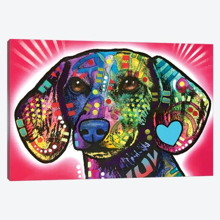 Luv Doxie Canvas Print #DRO964} by Dean Russo Canvas Art Print