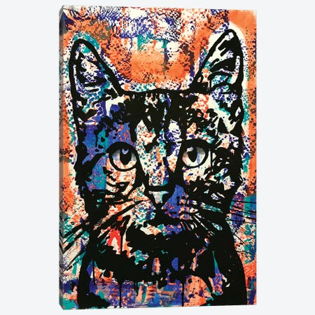 Nine Lives Cat Canvas Print #DRO973} by Dean Russo Art Print