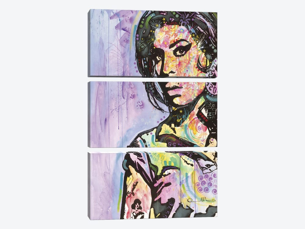 Amy Winehouse by Dean Russo 3-piece Art Print