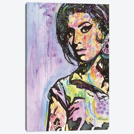Amy Winehouse Canvas Print #DRO97} by Dean Russo Canvas Artwork