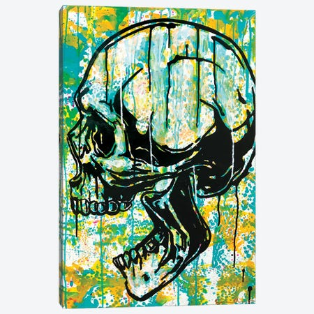Screaming Skull II Canvas Print #DRO988} by Dean Russo Canvas Wall Art