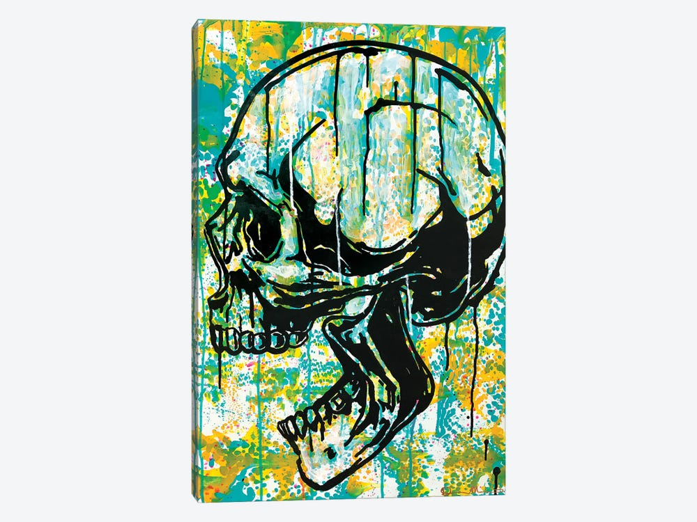 Screaming Skull II by Dean Russo 1-piece Canvas Print