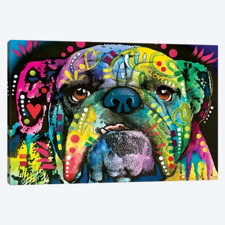 Straight On Bull Canvas Print #DRO996} by Dean Russo Canvas Artwork