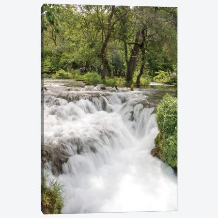 Croatia. Krka National Park cascades. UNESCO World Heritage Site. Canvas Print #DRU10} by Trish Drury Canvas Art Print