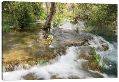 Croatia. Krka National Park cascades. UNESCO World Heritage Site. Canvas Art Print