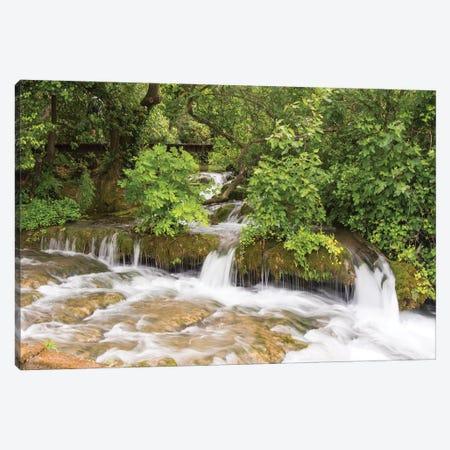 Croatia. Krka National Park cascades. UNESCO World Heritage Site. Canvas Print #DRU12} by Trish Drury Canvas Print