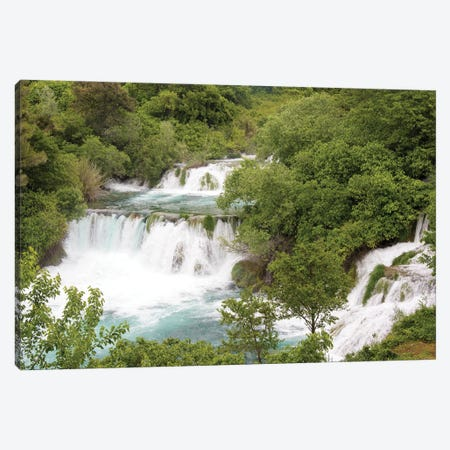 Croatia. Krka National Park waterfalls and cascades, UNESCO World Heritage Site. Canvas Print #DRU14} by Trish Drury Canvas Artwork
