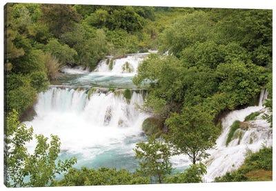 Croatia. Krka National Park waterfalls and cascades, UNESCO World Heritage Site. Canvas Art Print