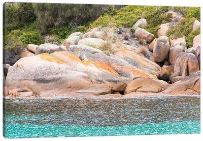 Australia, Tasmania, Freycinet National Park. Schouten Island. Crockett's Bay Canvas Art Print