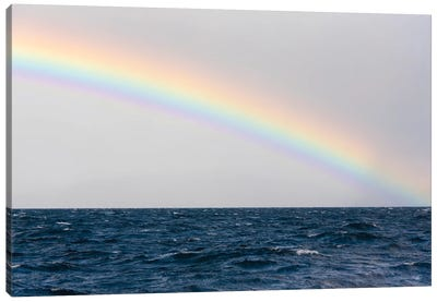 Australia, Tasmania, Maria Island. Rainbow in Tasman Sea Canvas Art Print