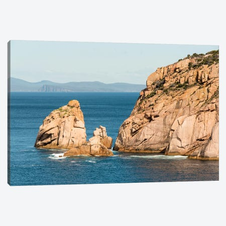 Australia, Tasmania. View from Haunted Bay on Maria Island toward Tasman National Park Canvas Print #DRU7} by Trish Drury Canvas Art Print