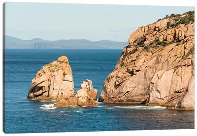 Australia, Tasmania. View from Haunted Bay on Maria Island toward Tasman National Park Canvas Art Print