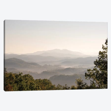USA, Tennessee. View to Smoky Mountains from Foothills Parkway. Fog in valleys early morning Canvas Print #DRU8} by Trish Drury Canvas Artwork