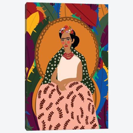 Frida On Her Throne Canvas Print #DRZ16} by Dina Razin Canvas Print