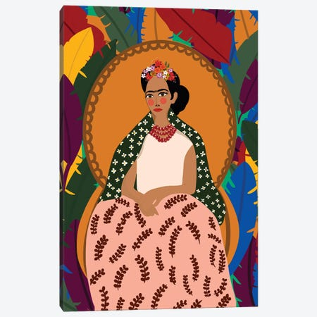 Frida On Her Throne Canvas Print #DRZ16} by Dina Razin Canvas Print
