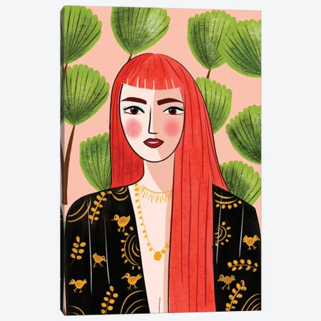 Portrait Of A Red Head Canvas Print #DRZ25} by Dina Razin Canvas Art