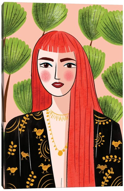 Portrait Of A Red Head Canvas Art Print