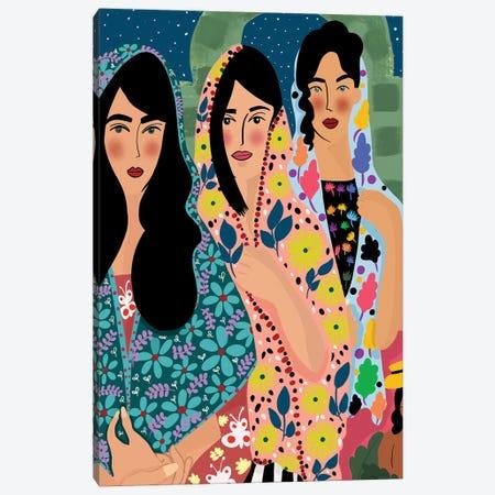 Rebelious Hearts Canvas Print #DRZ26} by Dina Razin Canvas Wall Art