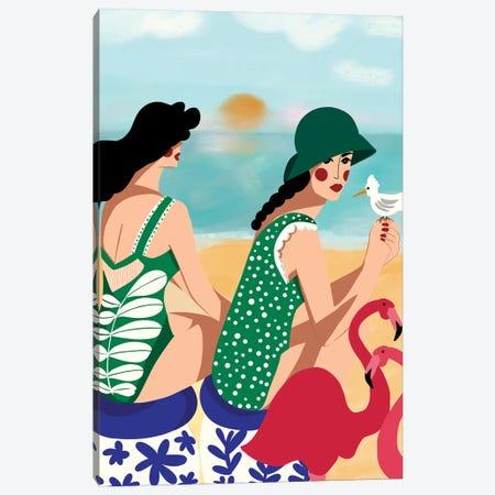 Summer Love Canvas Print #DRZ29} by Dina Razin Canvas Art Print