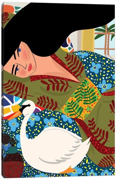 Thinking Of Modigliani Canvas Art Print