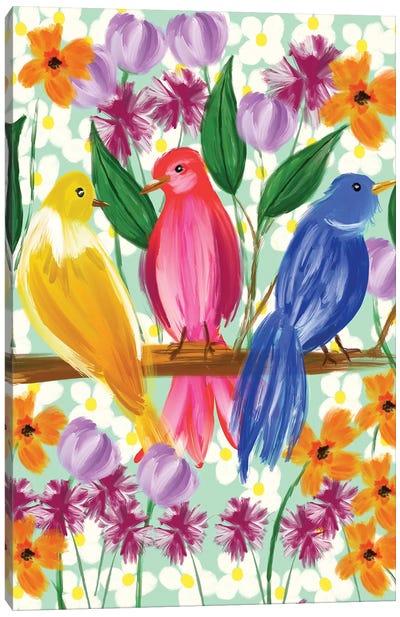 Chatter Canvas Art Print