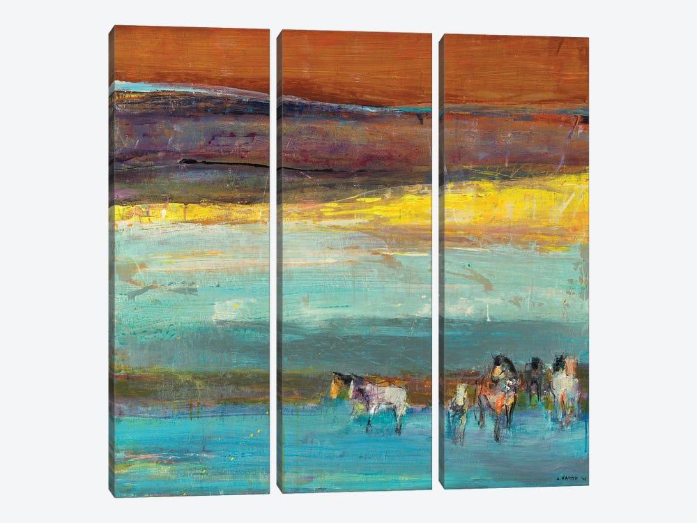 Claire de Lune by Dominique Samyn 3-piece Canvas Art