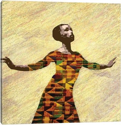 Kente Dancer II Canvas Art Print