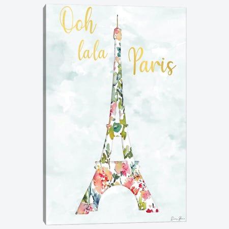 Oh La La Paris Canvas Print #DSB12} by Denise Brown Canvas Art Print