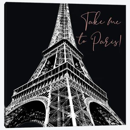 Take Me To Paris Canvas Print #DSB21} by Denise Brown Canvas Artwork