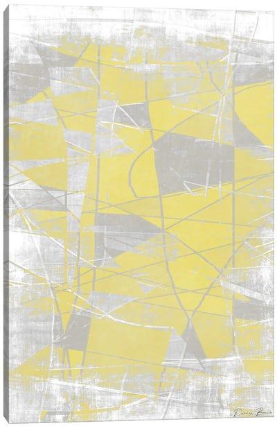 Metric Pantone Yellow Canvas Art Print