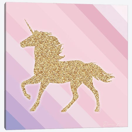 Sparkle Like A Unicorn II Canvas Print #DSB35} by Denise Brown Canvas Artwork
