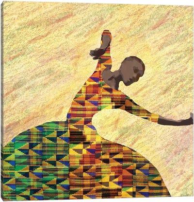 Kente Dancer I Canvas Art Print