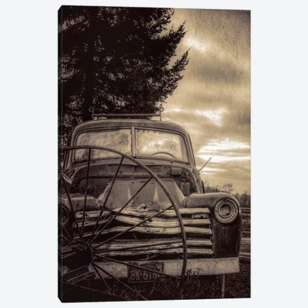 Vintage Truck Canvas Print #DSC100} by Don Schwartz Canvas Art