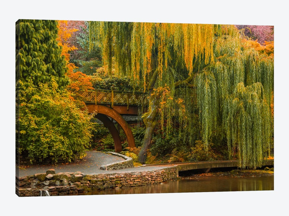Willows Over The Pond by Don Schwartz 1-piece Canvas Print