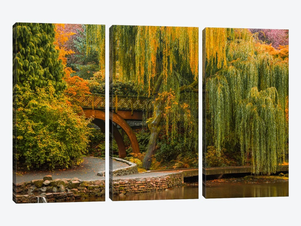 Willows Over The Pond by Don Schwartz 3-piece Art Print