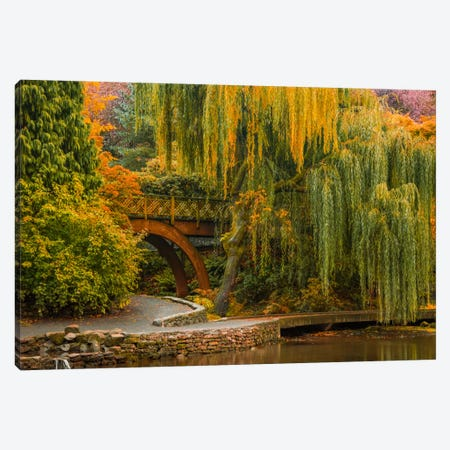 Willows Over The Pond Canvas Print #DSC101} by Don Schwartz Canvas Art