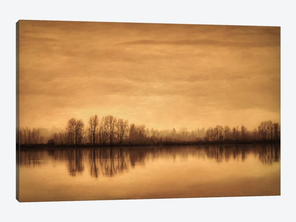 Winter On The River by Don Schwartz 1-piece Canvas Print