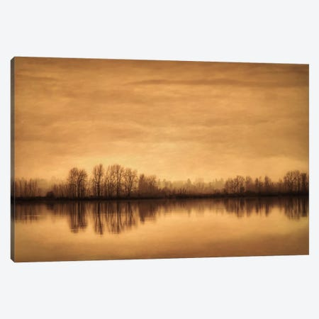 Winter On The River Canvas Print #DSC103} by Don Schwartz Canvas Art