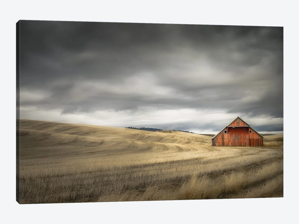 Old Barn In The Winter Field by Don Schwartz 1-piece Canvas Wall Art