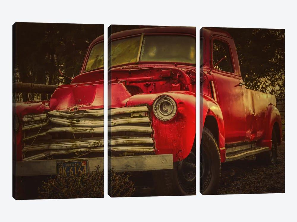 Battered Truck by Don Schwartz 3-piece Canvas Wall Art