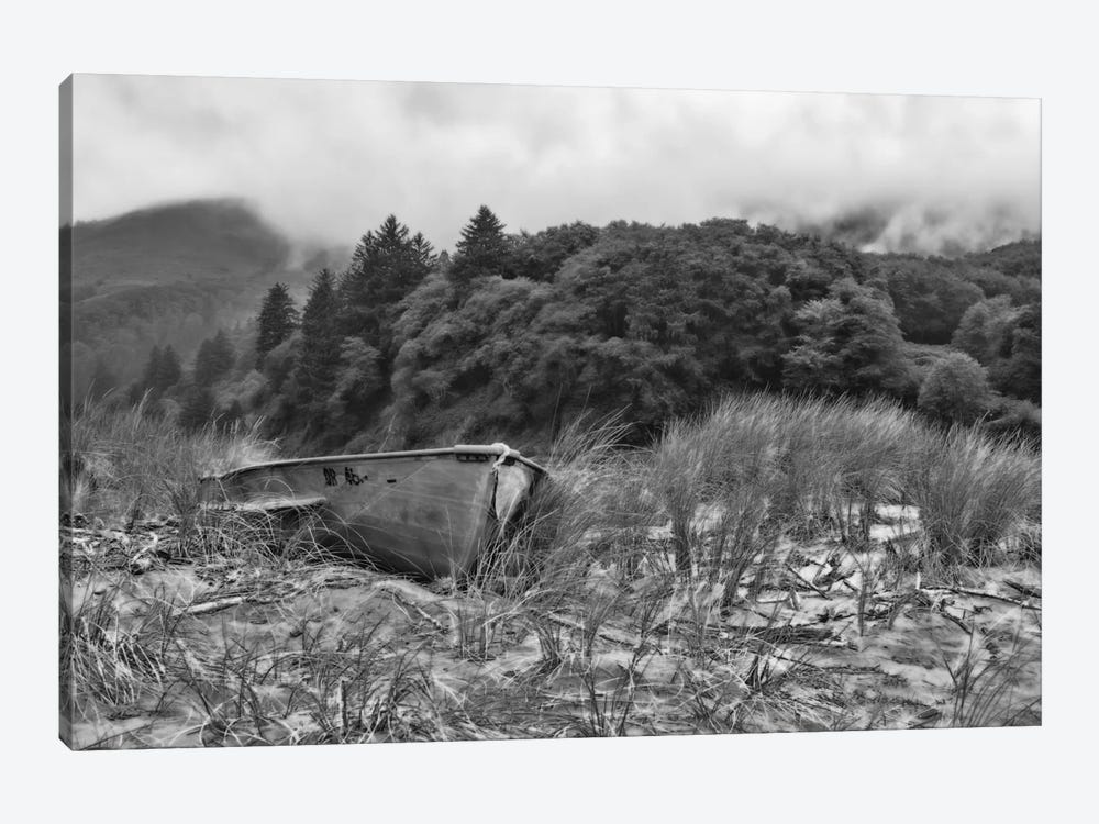 Beached Boat by Don Schwartz 1-piece Art Print