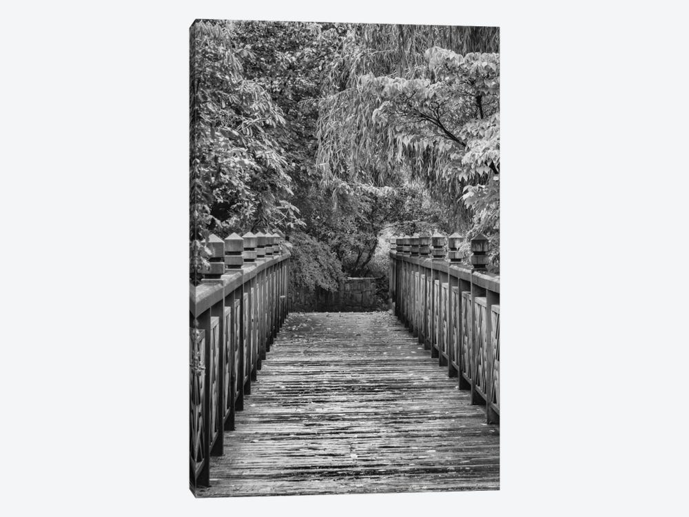 Across The Bridge In B&W by Don Schwartz 1-piece Canvas Print