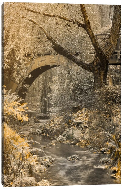 Flowing Under The Bridge Canvas Art Print