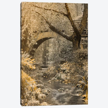 Flowing Under The Bridge Canvas Print #DSC32} by Don Schwartz Canvas Wall Art