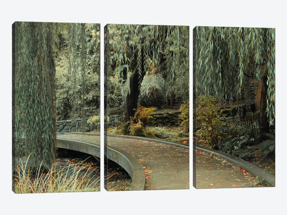 Garden Path by Don Schwartz 3-piece Canvas Print