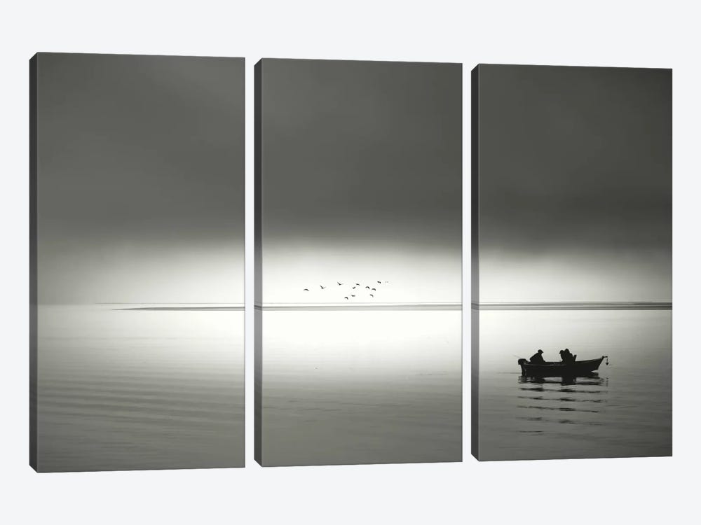 Going Fishing 3-piece Canvas Art Print