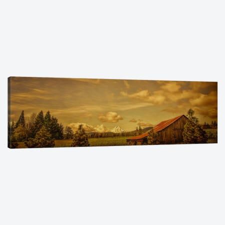 Hood River Barn Canvas Print #DSC43} by Don Schwartz Art Print
