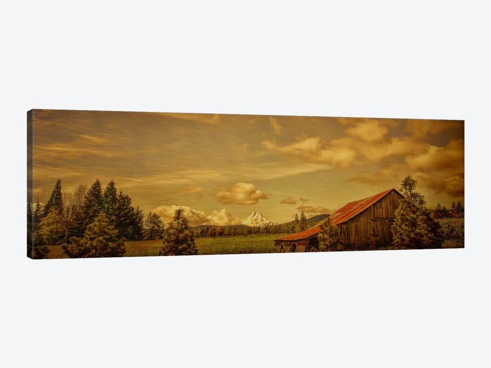 Hood River Barn by Don Schwartz 1-piece Canvas Art
